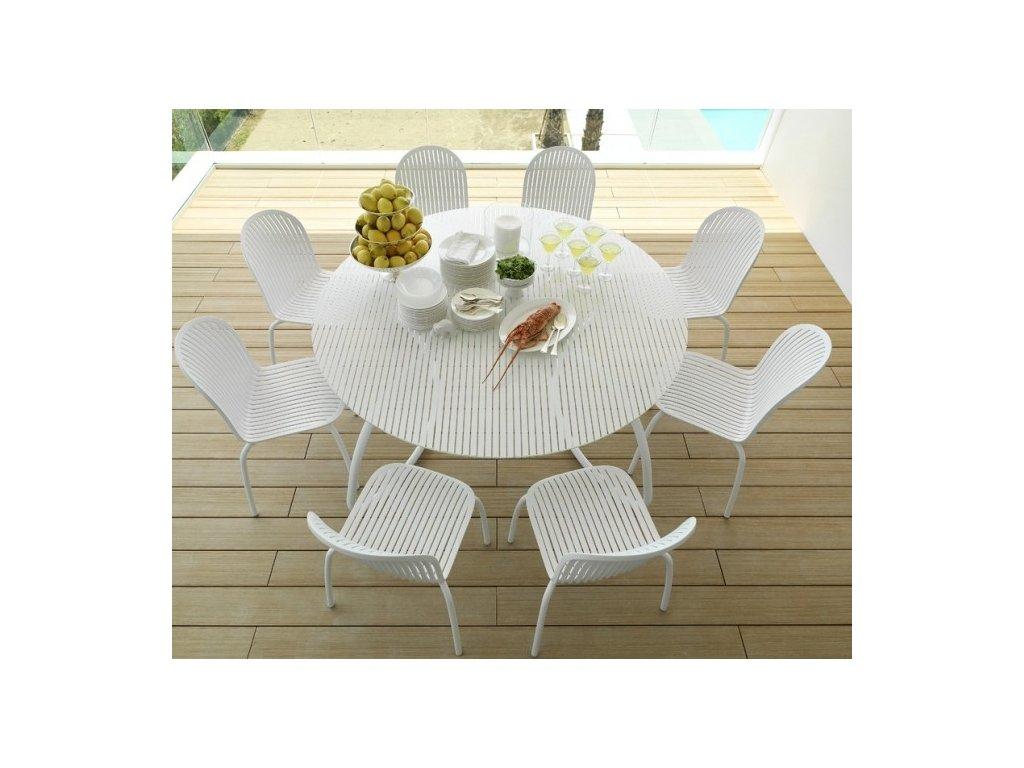 3c9d149c5e49 Sklenený okrúhly stôl 170 Loto Dinner  biely - Möbler