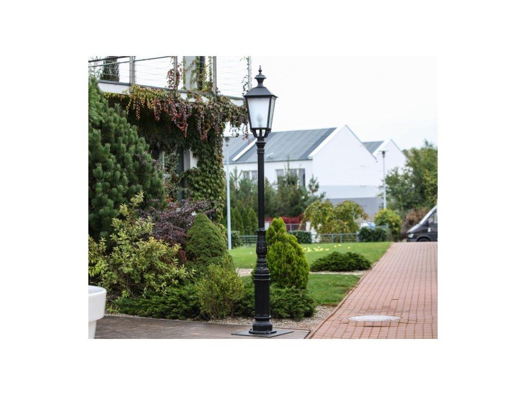 Hliníková lampa zahradní stojící