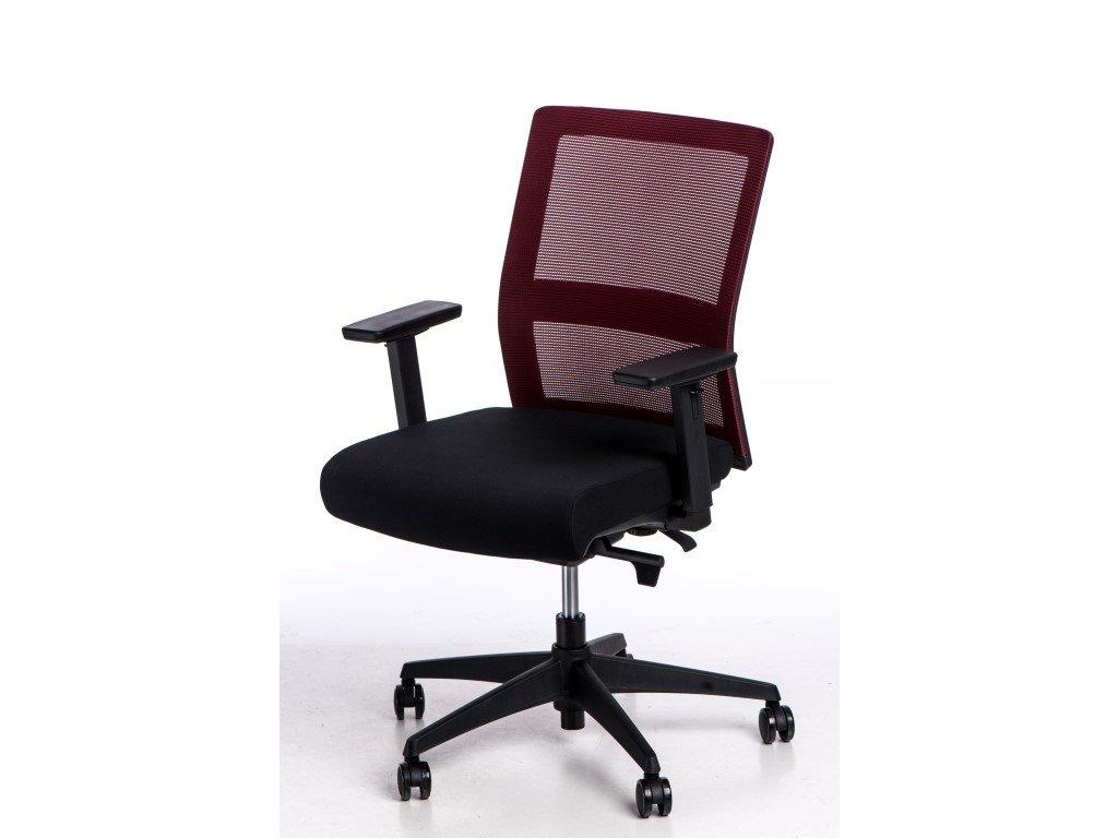 Kancelárske kreslo Press červené / čierne