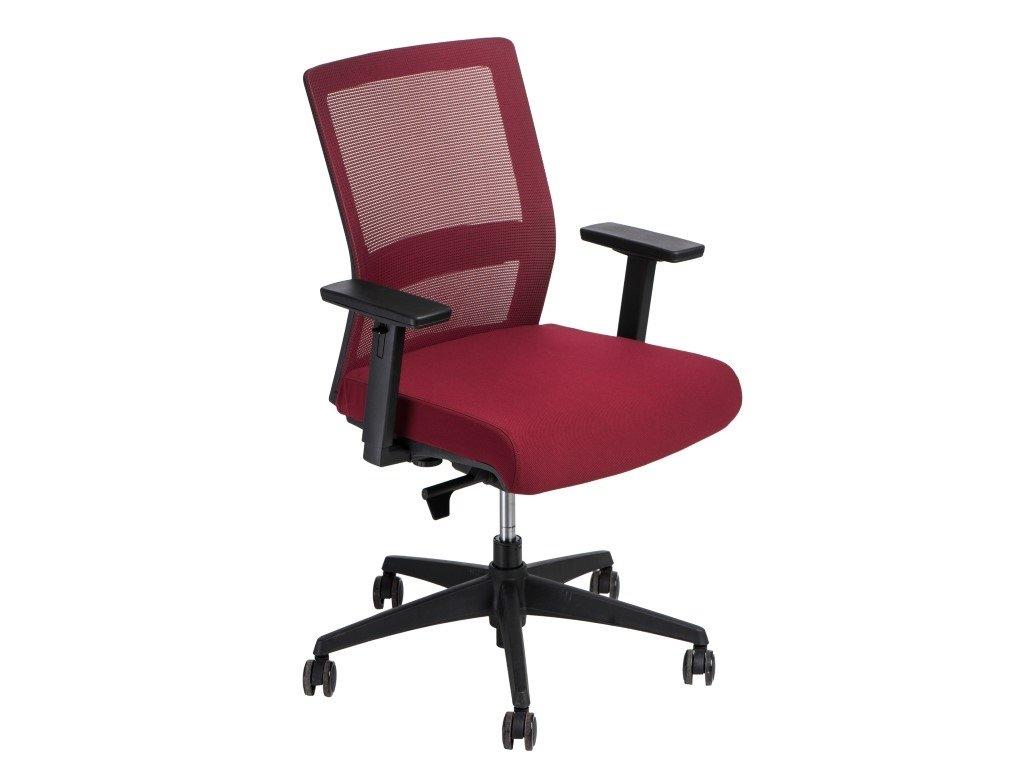 Kancelárske kreslo Press červené / červené