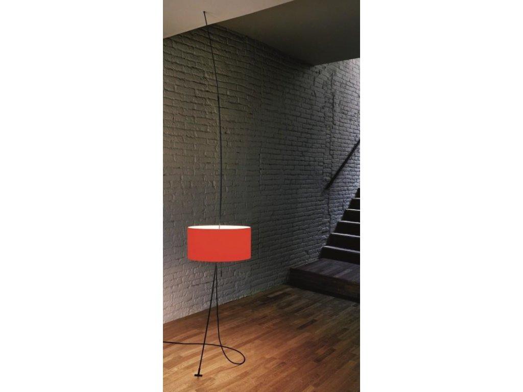 Lampa totora červené tienidlo, priemer 45 cm