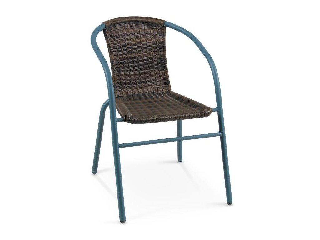 GRAND 2 stoličky tmavo zelená / tmavo hnedá