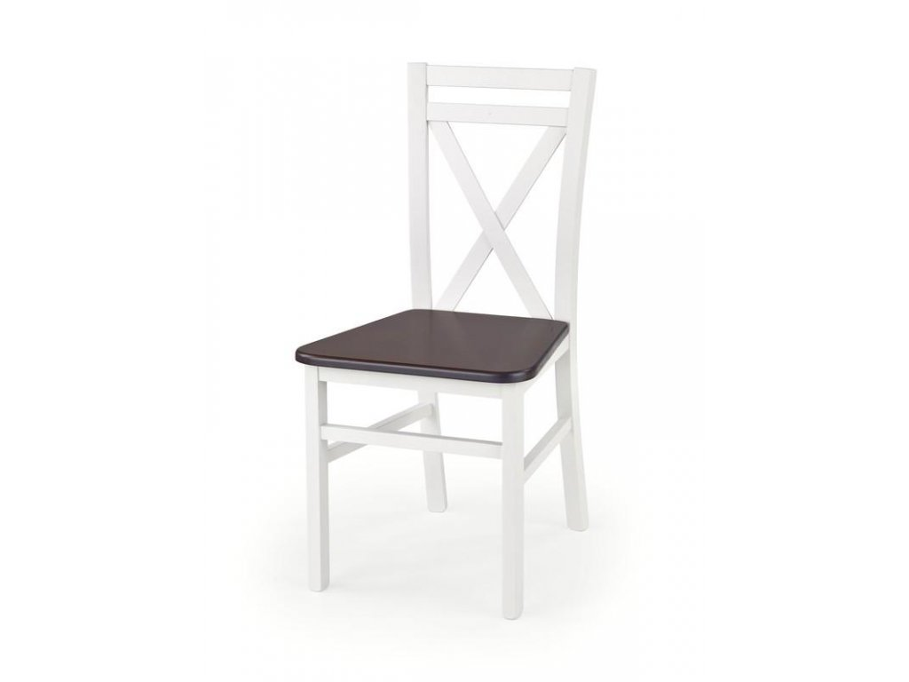DARIUSZ 2 stolička biela / tmavý orech
