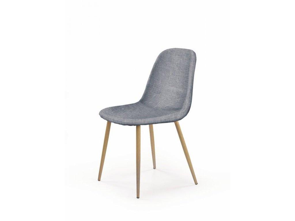 K220 stoličky čalúnenie - sivé, Nohy: dub ťavia