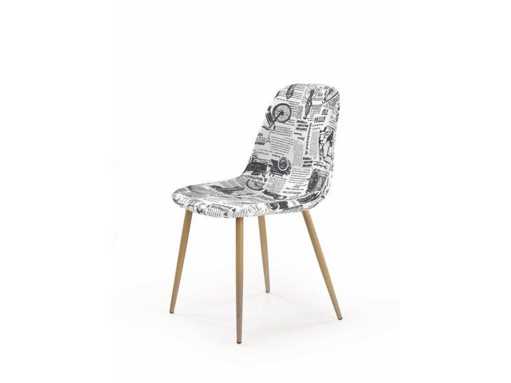 K220 stoličky čalúnenie viacfarebné, Nohy: dub ťavia