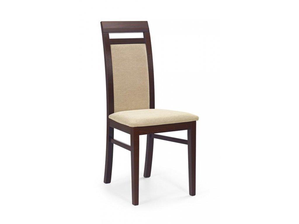 ALBERT stoličky tmavý orech / Polstrovanie: Torent Beige