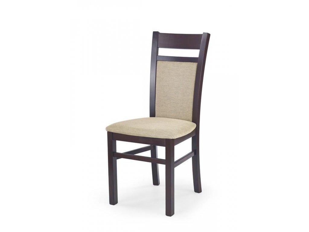 GERARD2 stoličky tmavý orech / Polstrovanie: Torent Beige