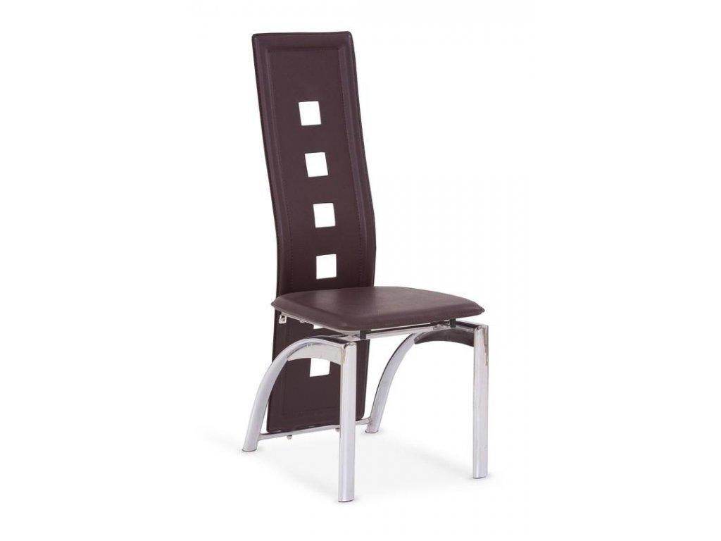K4 stoličky tmavo hnedá