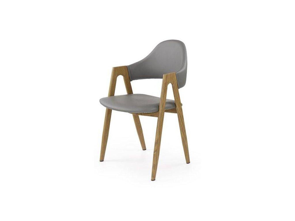 K247 stoličky šedá - dub ťavie