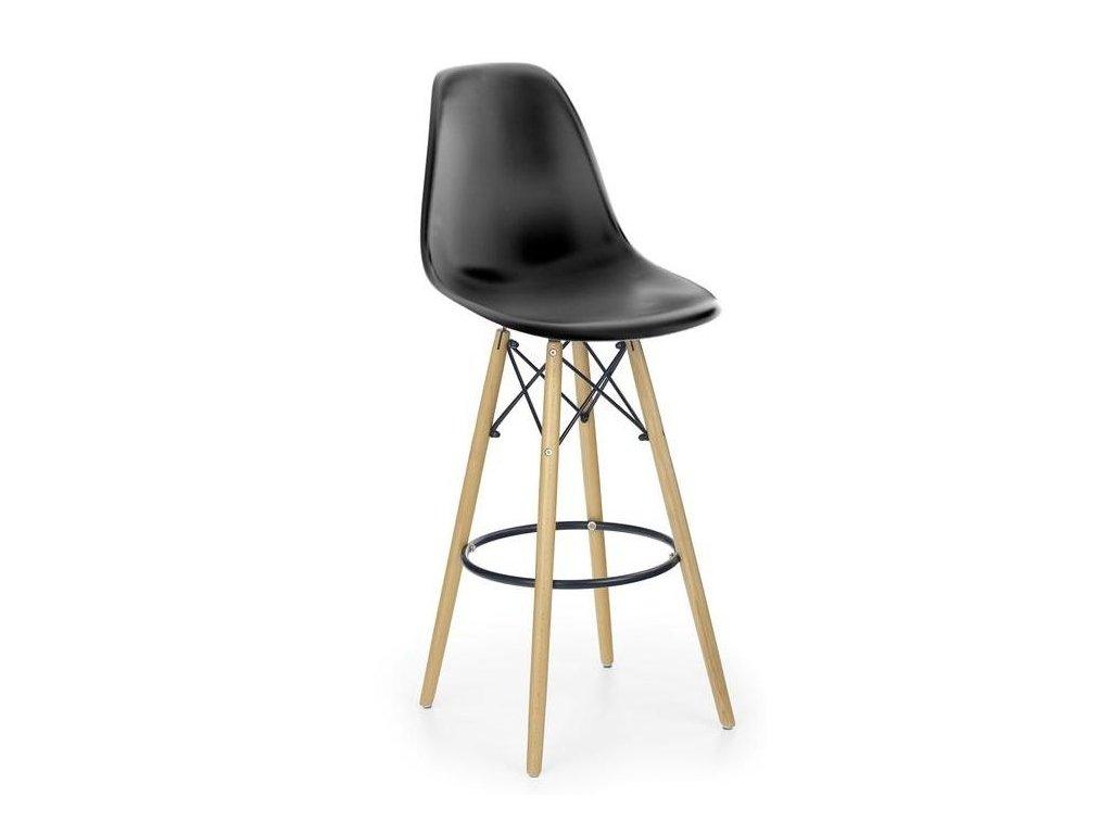 H51 barová stolička čierna