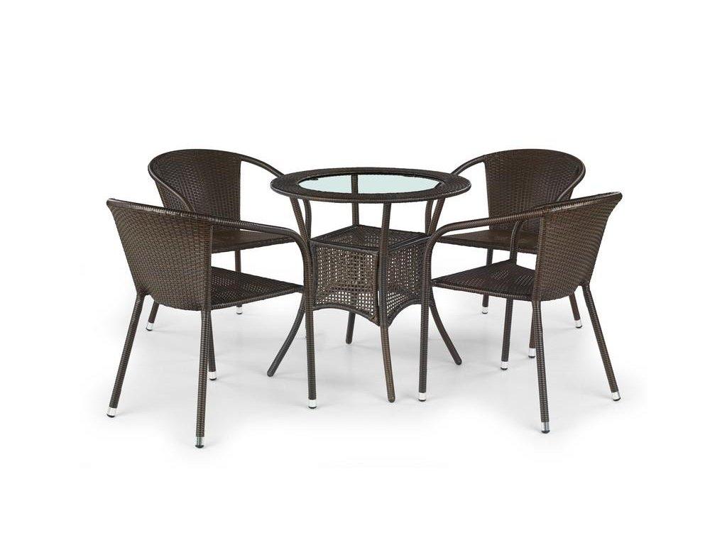 MIDAS stôl tmavo hnedý