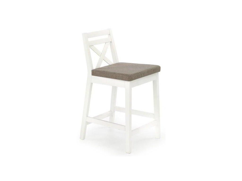 BORYS LOW stoličky barové nízkej biela / Polstrovanie: Inari 23