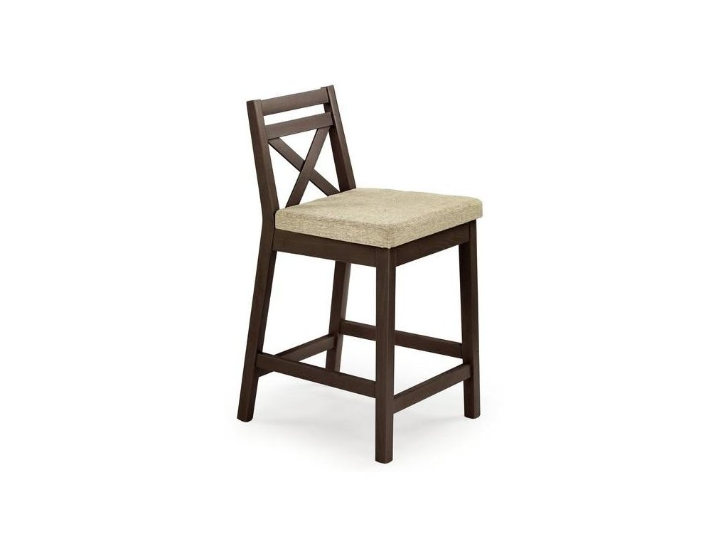 BORYS LOW stoličky barové nízkej tmavý orech / Polstrovanie: Vila 2