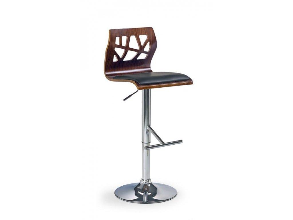 H34 barová stolička čierna