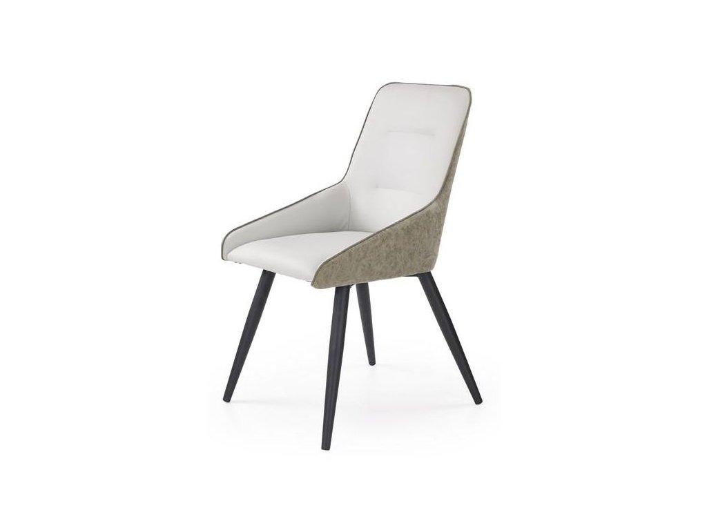 K243 stoličky svetlý betón / sivá