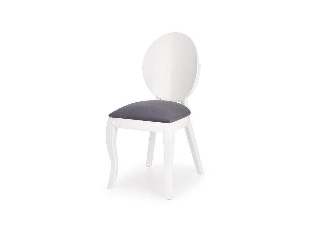 VERDI stolička bielo-šedá