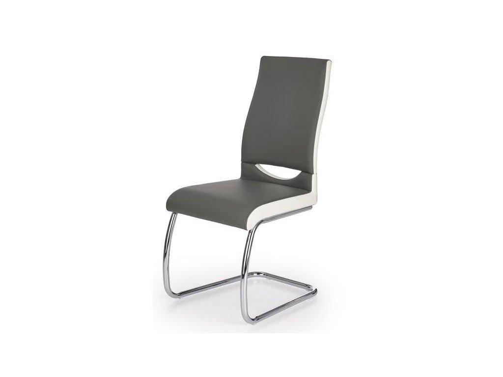 K259 stoličky sivá / biela