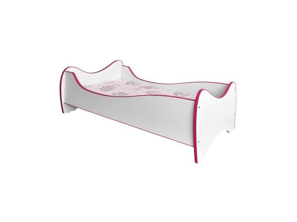 DUO posteľ biela / ružové