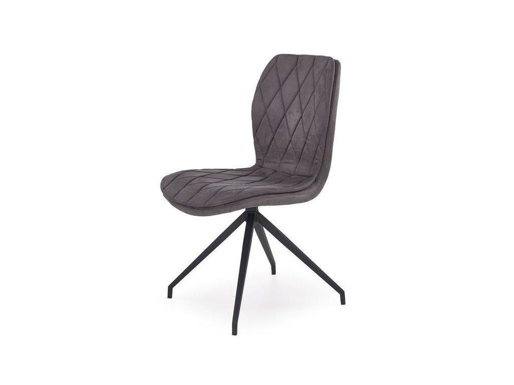 K237 stoličky šedá