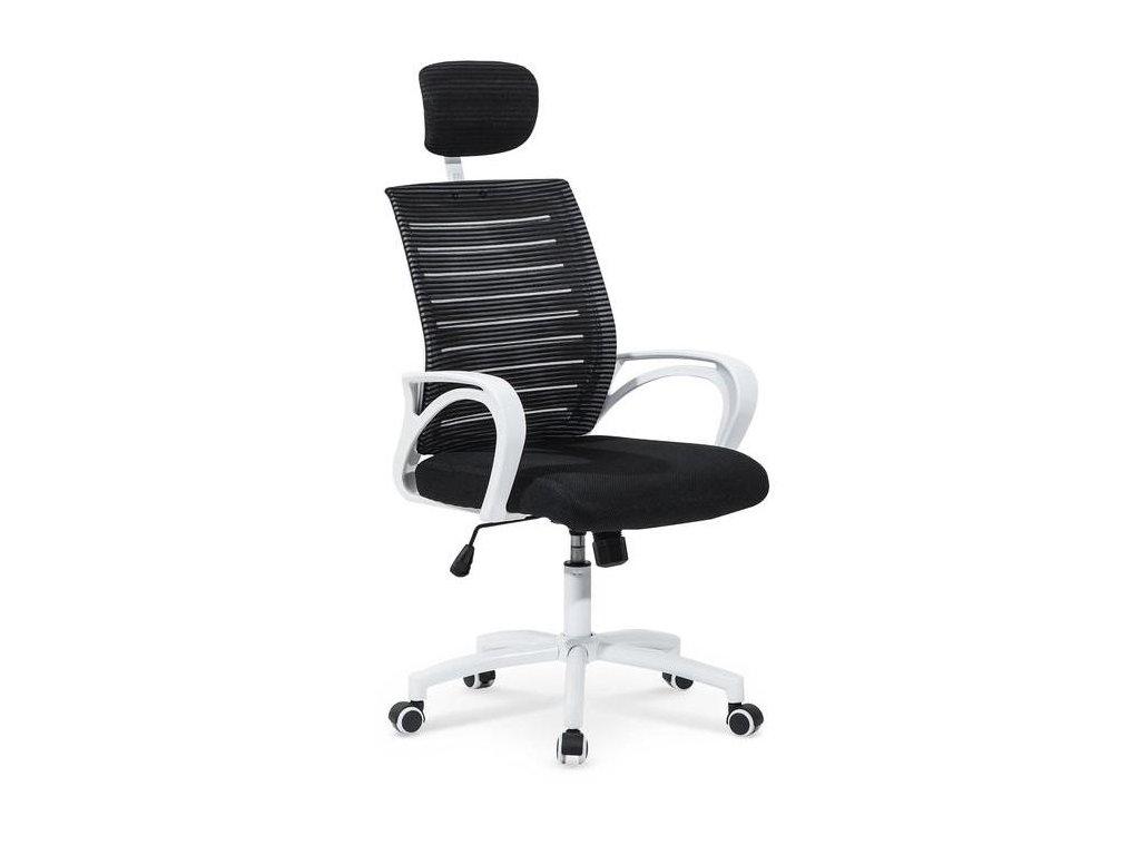 SOCKET kreslo kancelárske bielo - čierne