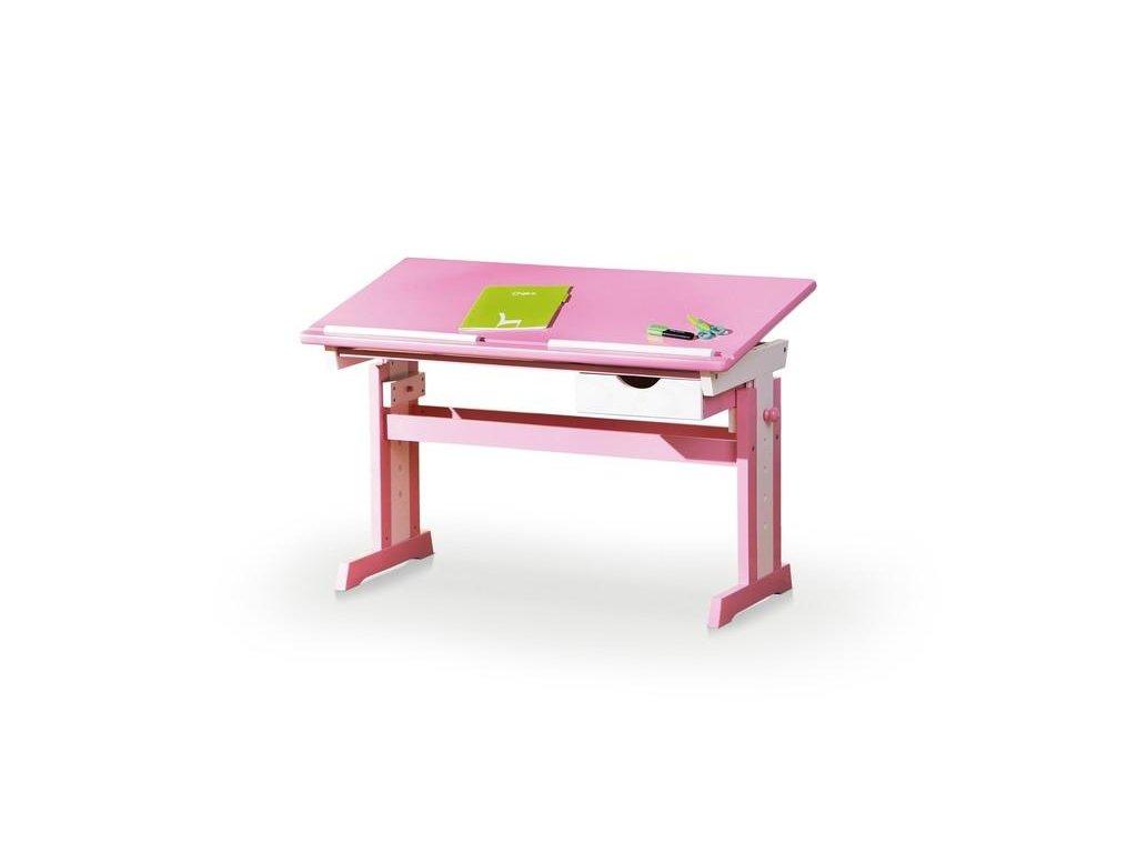 CECILIA písací stôl ružovo - biely