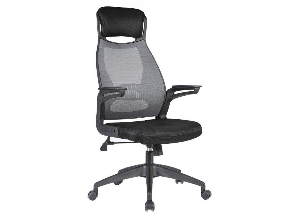 SOLARIS kreslo kancelárske čierno - šedé