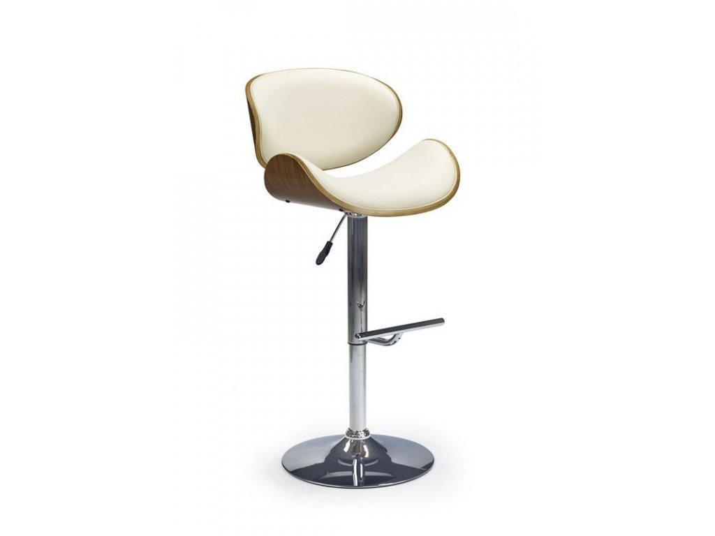 H44 barová stolička orech / krémová