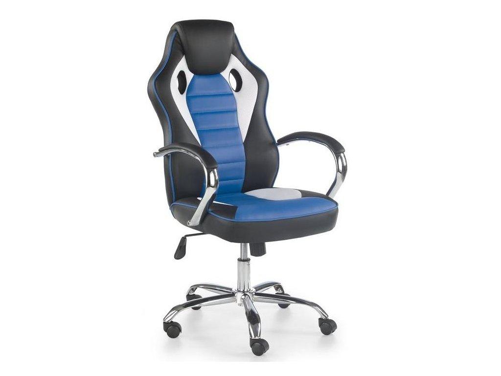 SCROLL kreslo kancelárske čierne / biele / modré