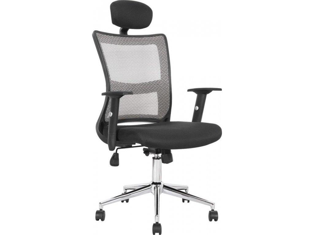 NEON kreslo kancelárske čierno-svetlo šedej
