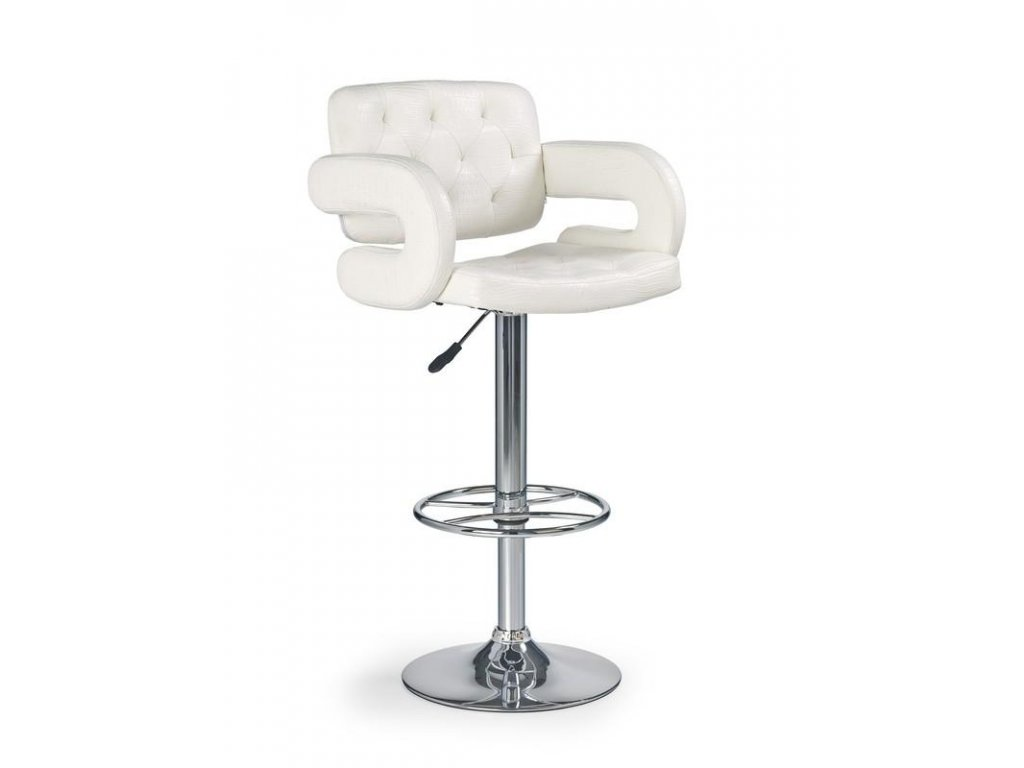 H37 barová stolička biela