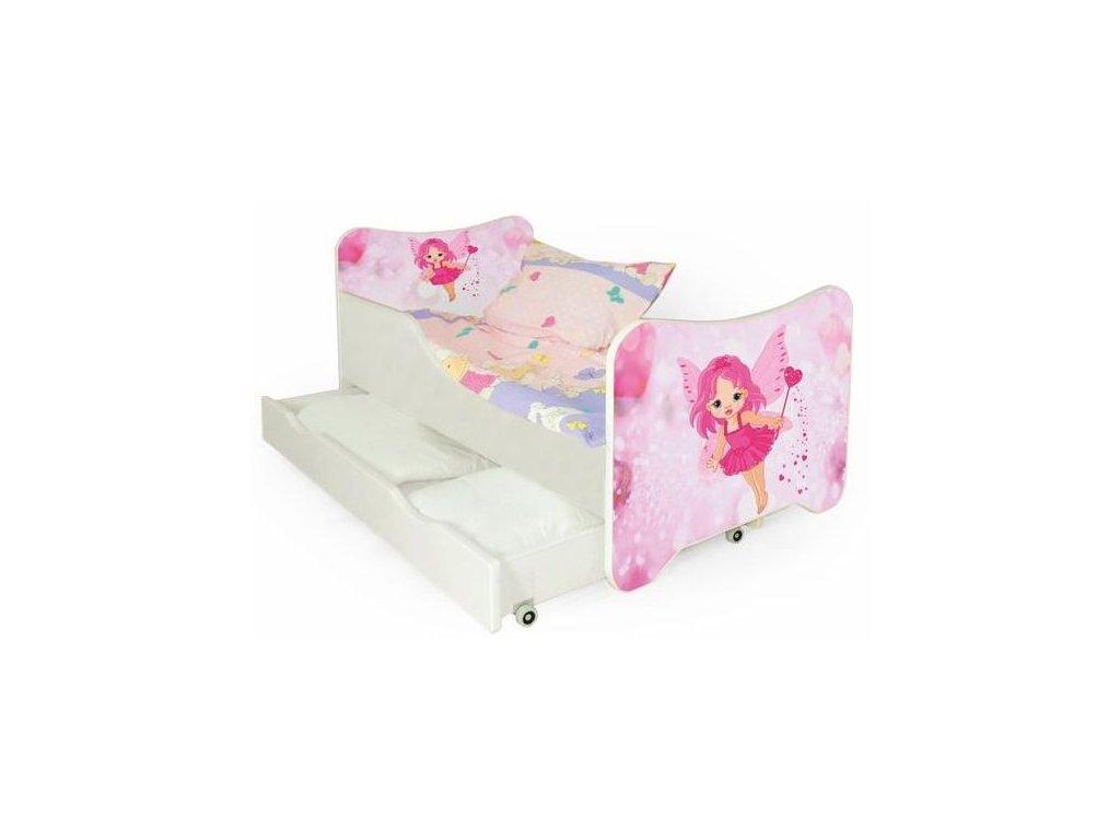 HAPPY FAIRY posteľ biela / ružové