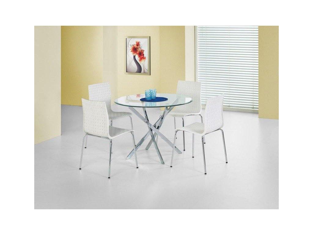 RAYMOND stôl číry / chróm