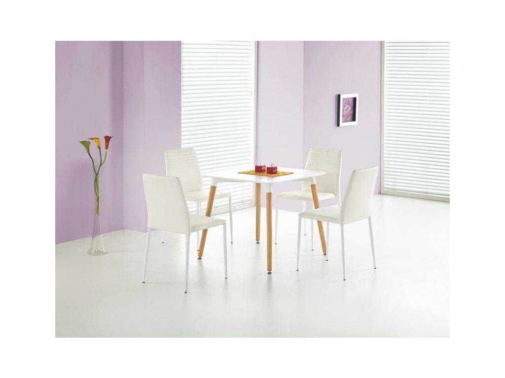 SOCRATES štvorec stôl biely