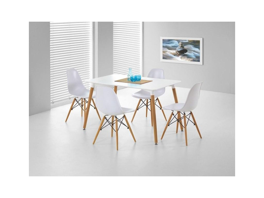 SOCRATES obdĺžnikový stôl biely