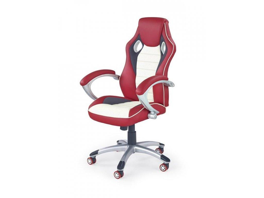 MALIBU kreslo kancelárske červené - krémové