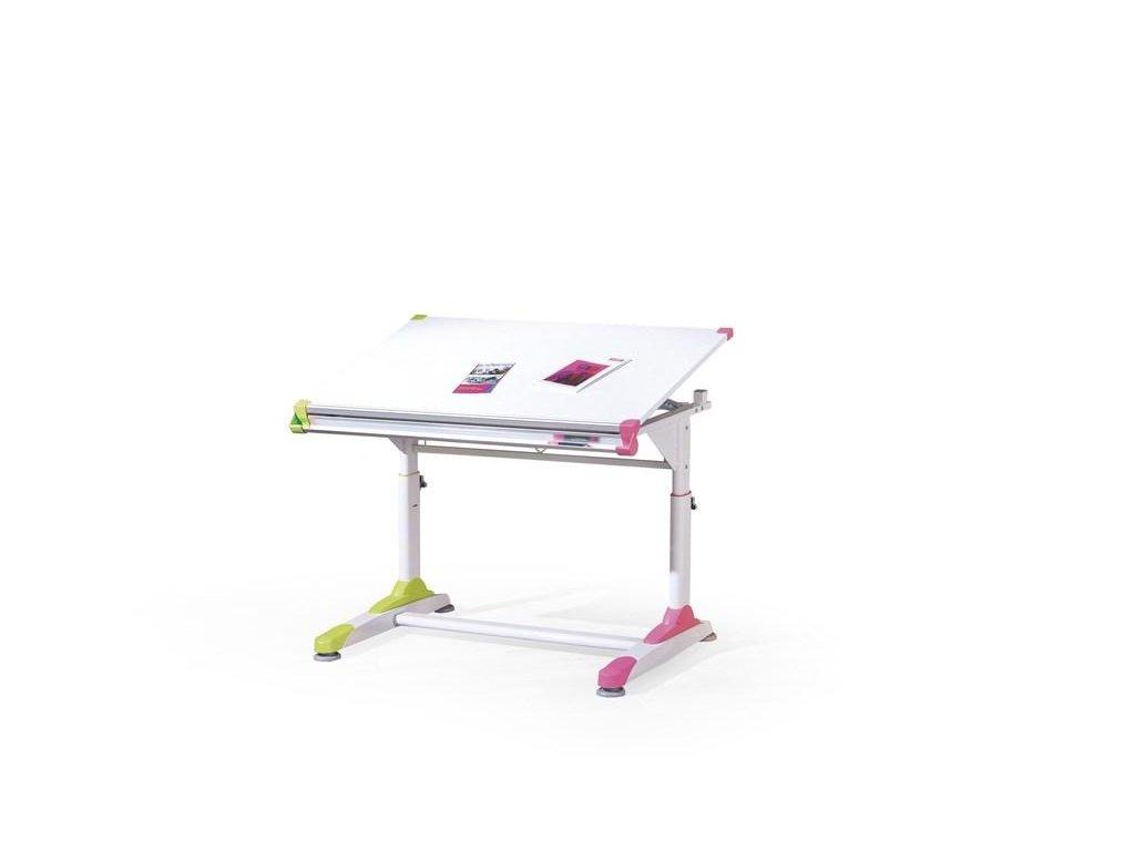 COLLORIDO písací stôl bielo-zeleno-ružový