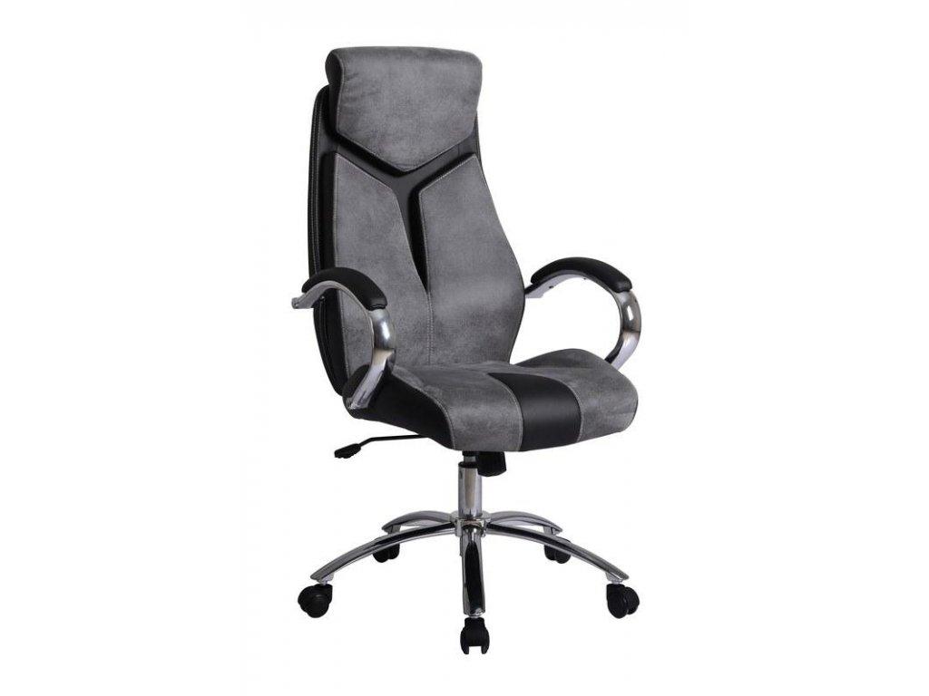 NIXON kreslo kancelárske šedo - čierne