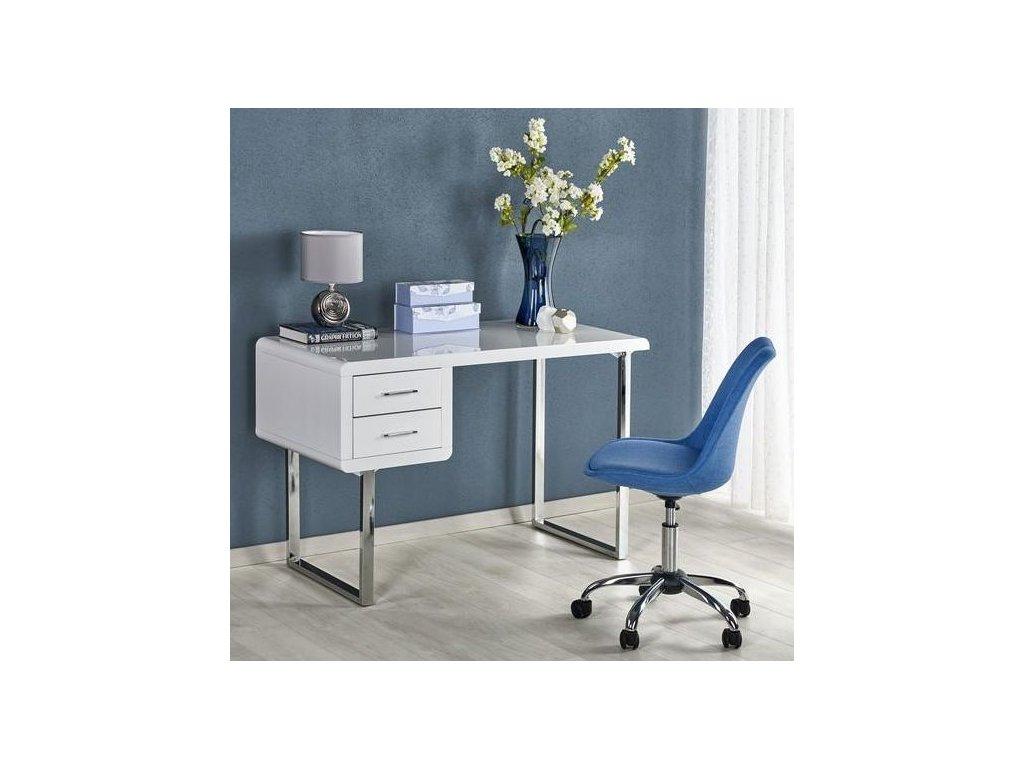 B30 písací stôl biely-chróm