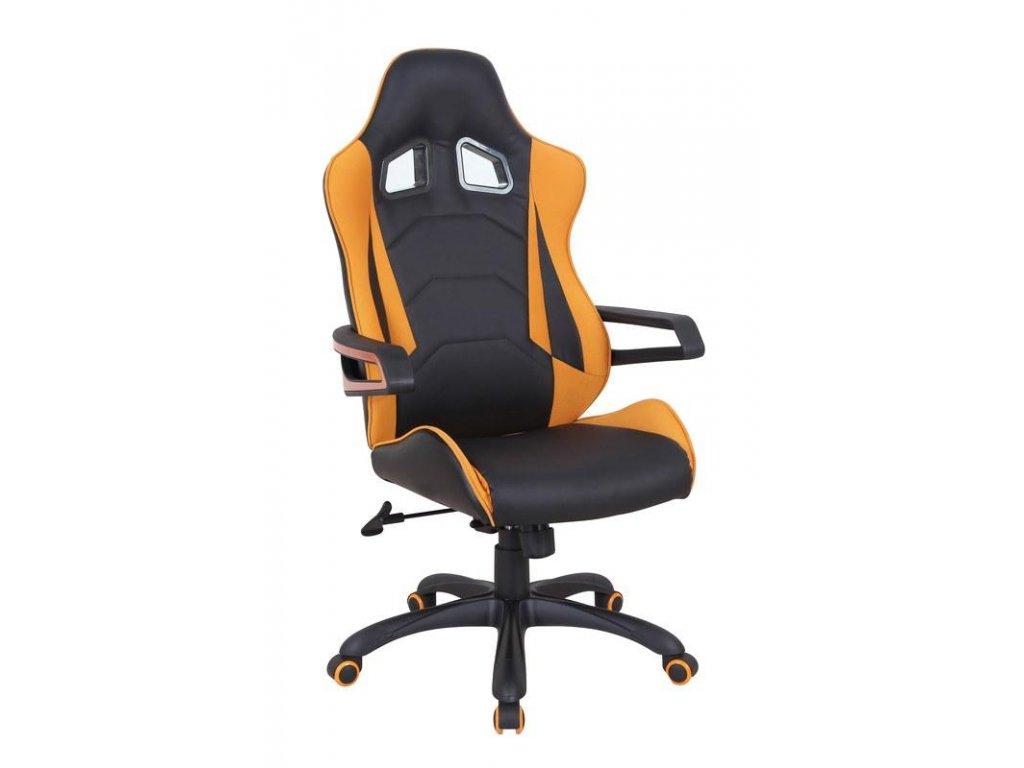 MUSTANG kreslo kancelárske čierno - oranžové