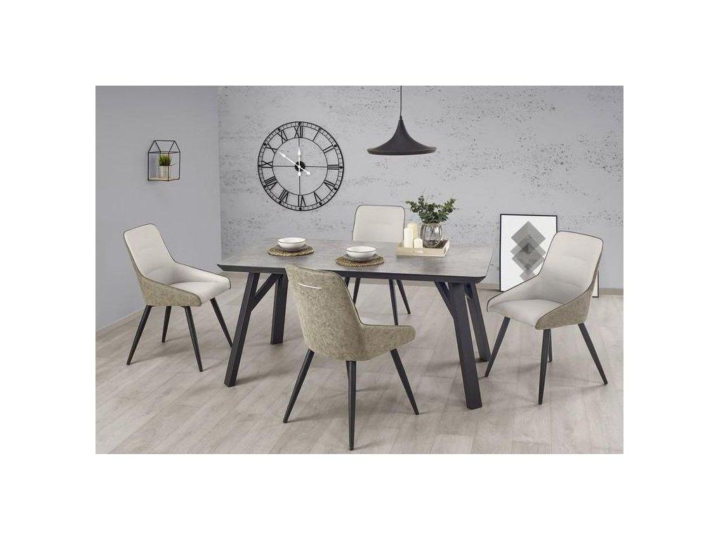 HALIFAX stôl svetlý betón
