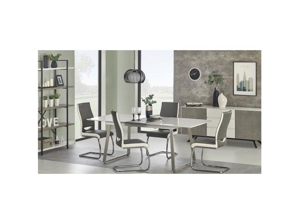 THOMAS stôl rozkladací biely / betón