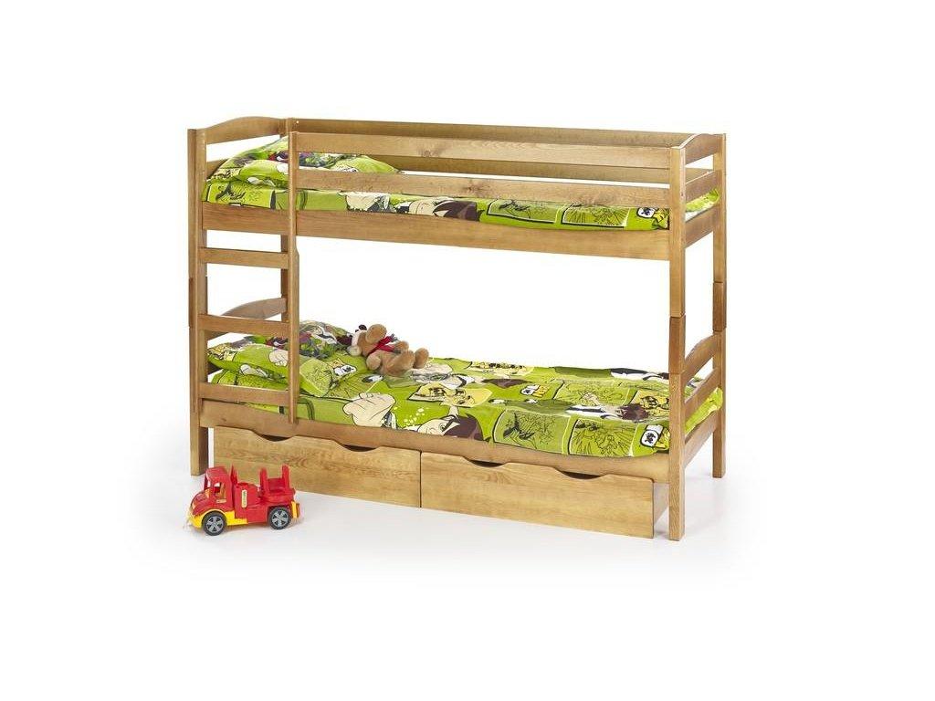 SÁM - posteľ poschodová s matracmi - jelša