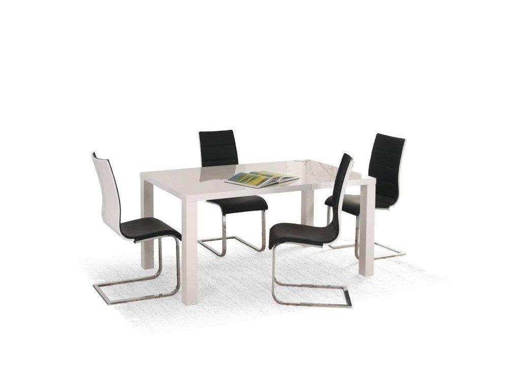 RONALD stôl biely rozkladací 120 ÷ 160/80