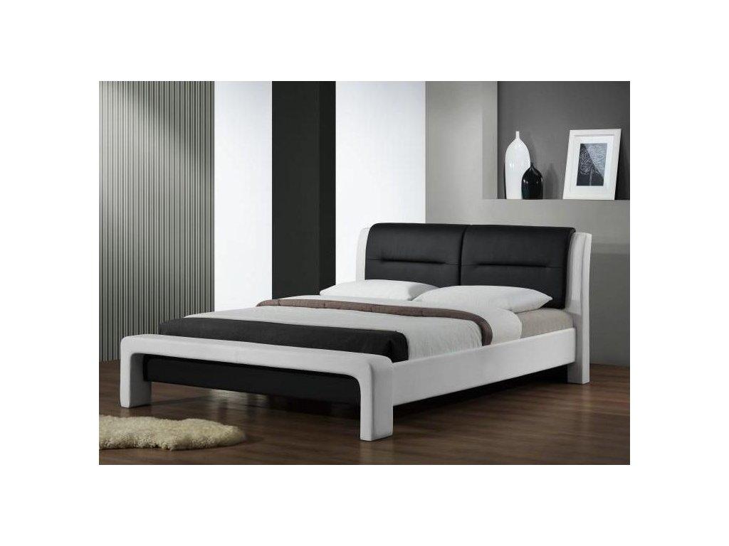 CASSANDRA 120cm posteľ bielo - čierna