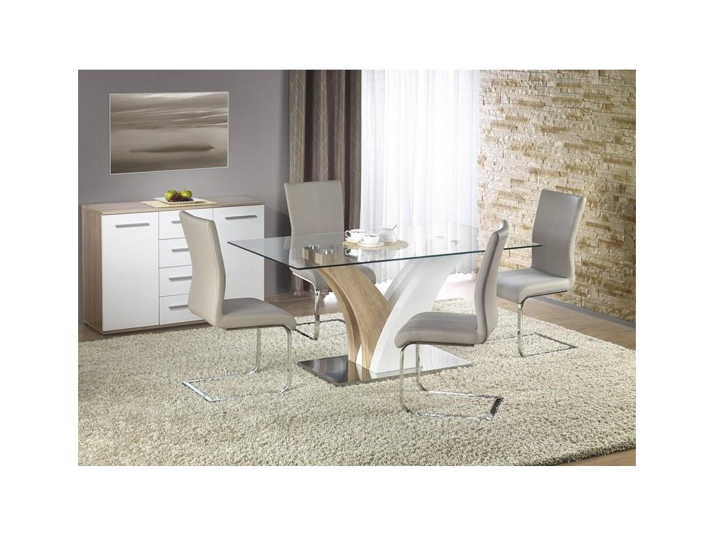 VILMER stôl dub Sonoma / biely