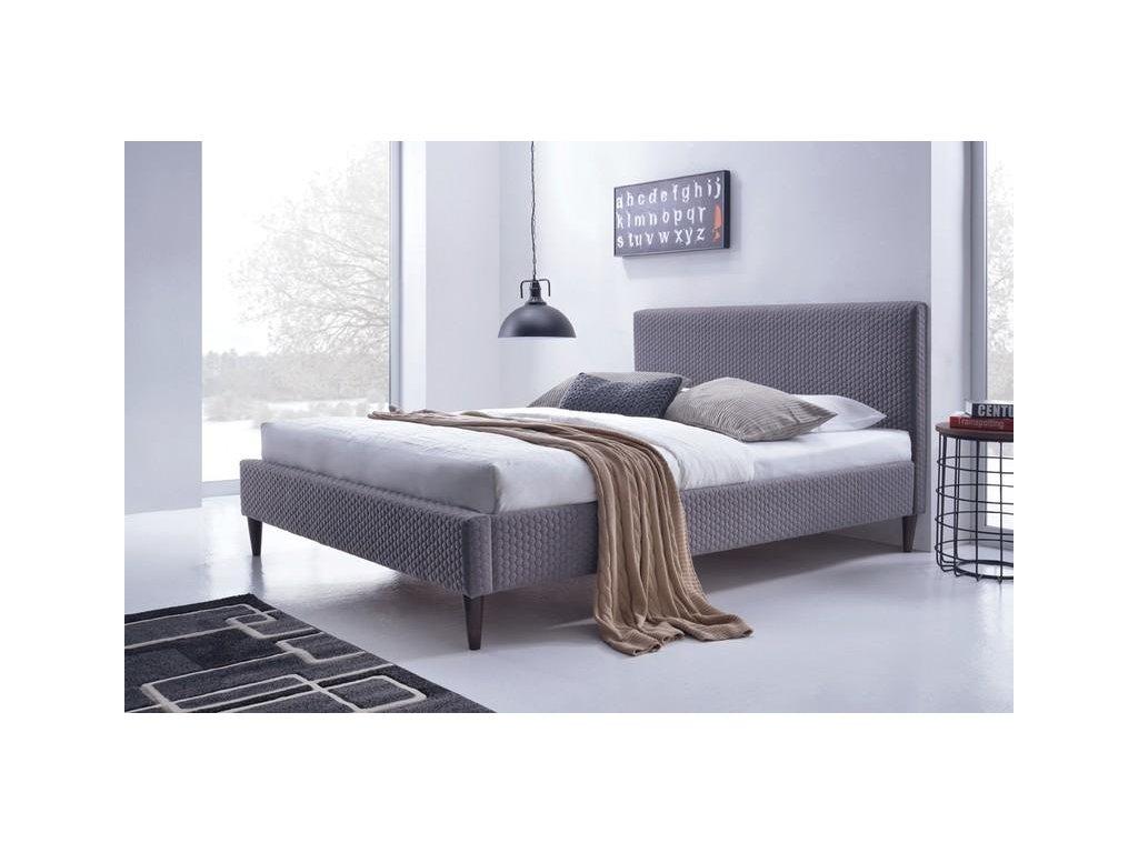 FLEXY posteľ čalúnená šedá