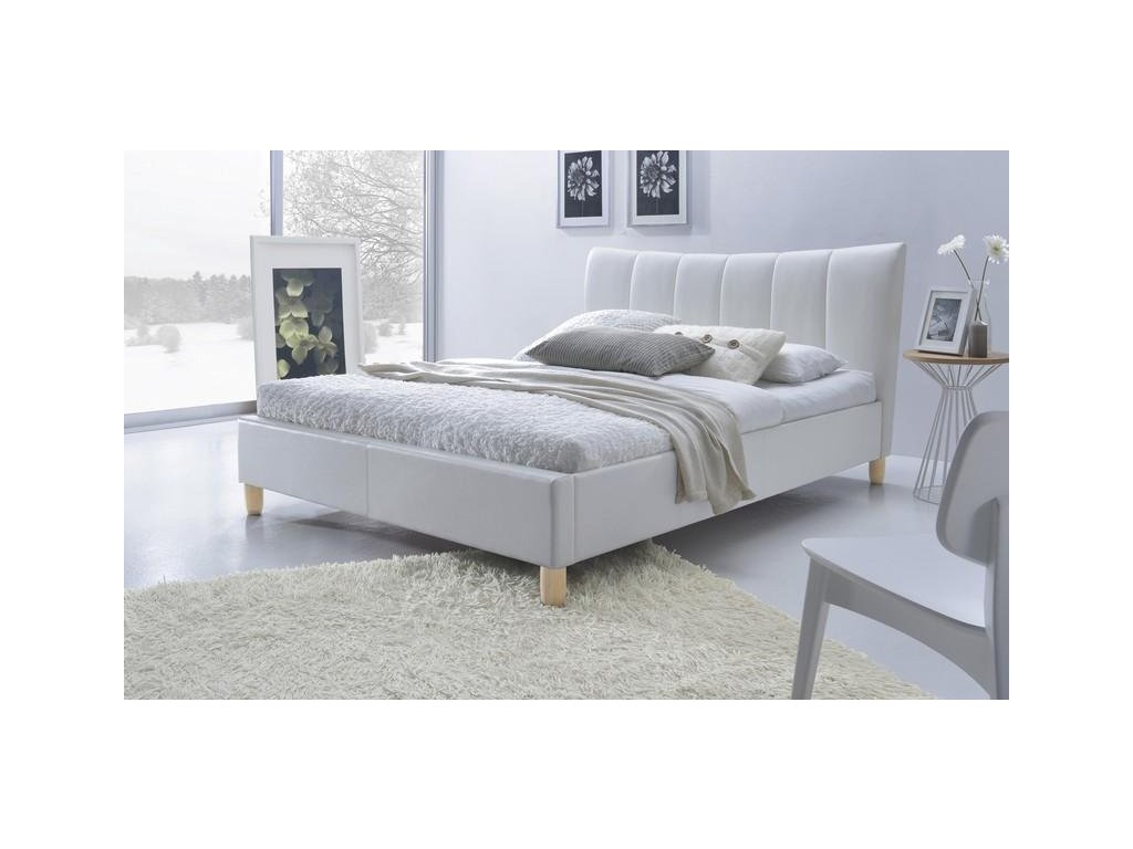 SANDY posteľ čalúnená biela