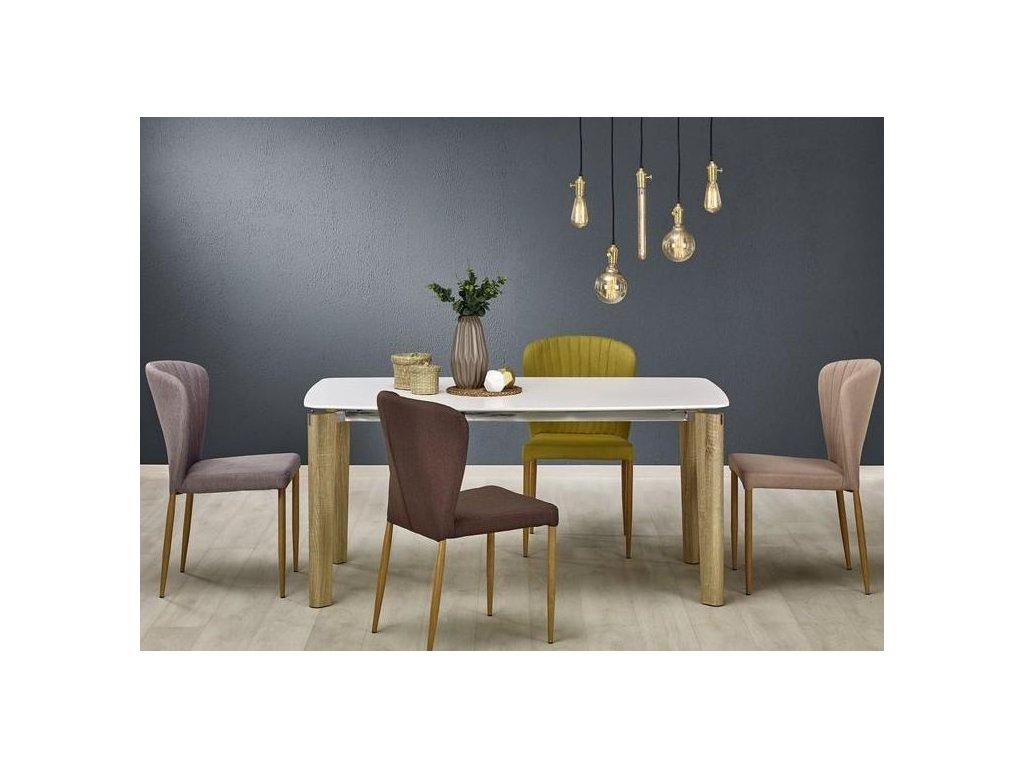 WEBER stôl biely / dub Sonoma