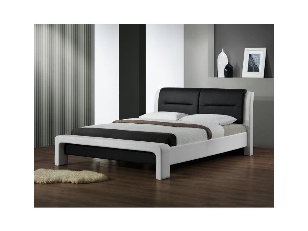 CASSANDRA 160 cm posteľ bielo - čierna