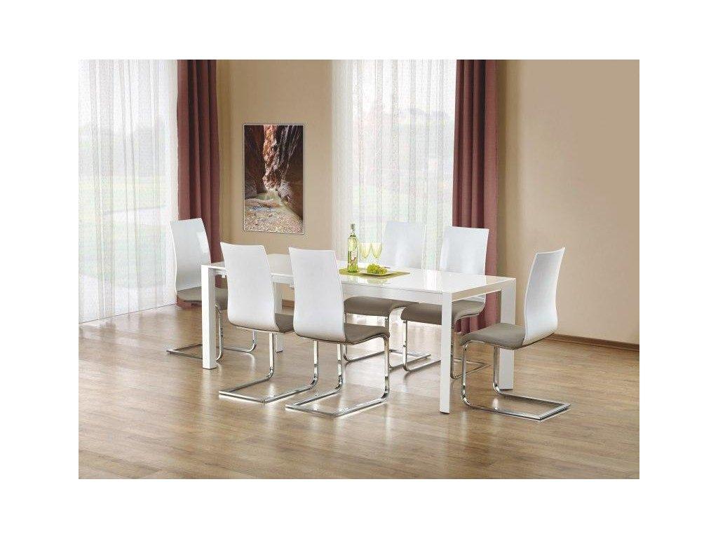 STANFORD XL stôl rozkladací biely